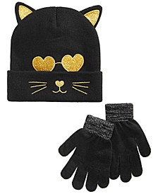 Big Girls 2-Pc. Cat Hat & Gloves Set