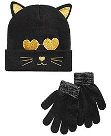 Berkshire Big Girls 2-Pc. Cat Hat & Gloves Set