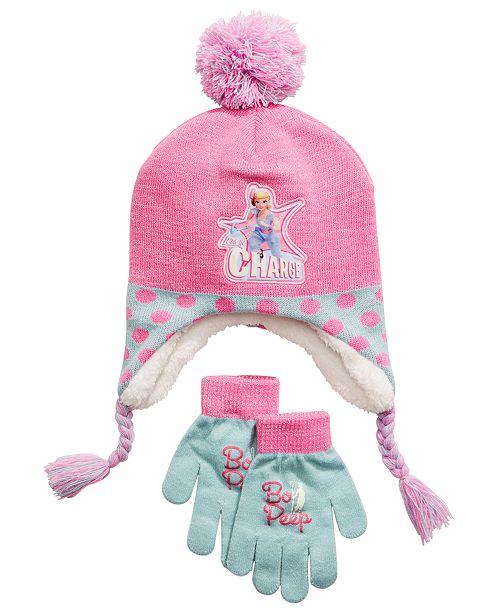 Disney Big Girls 2-Pc. Toy Story Bo Peep Heidi Hat & Gloves Set