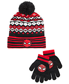 Spider-Man Big Boys 2-Pc. Beanie Hat & Gloves Set