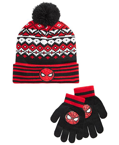 Spider-Man Big Boys 2-Pc. Beanie Hat & Gloves Set
