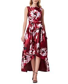 Mikado High-Low Dress
