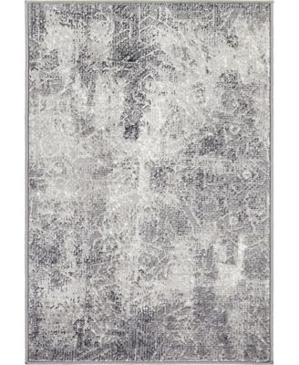 Basha Bas6 Dark Gray 8' x 8' Square Area Rug