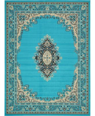 Birsu Bir1 Turquoise 8' x 8' Square Area Rug