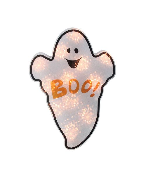 Northlight Holographic Lighted Ghost Halloween Window Silhouette