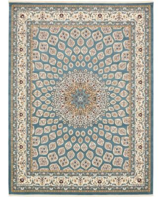 Zara Zar1 Blue 3' x 13' Runner Area Rug