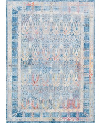 Zilla Zil2 Blue 8' x 8' Square Area Rug