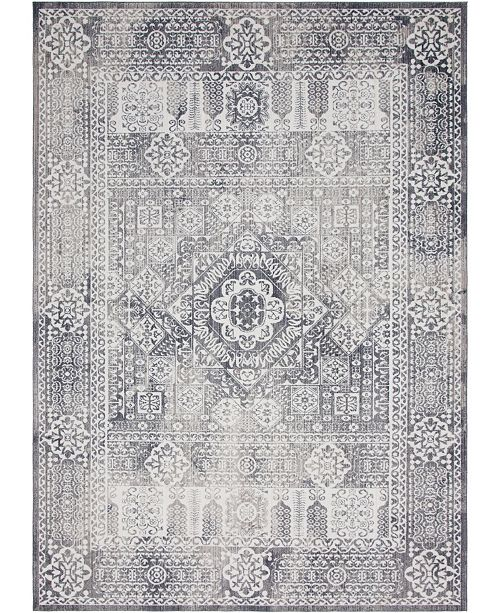 Bridgeport Home Zilla Zil3 Gray Area Rug Collection