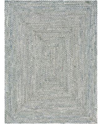 Roari Cotton Braids Rcb1 Gray 8' x 10' Oval Area Rug