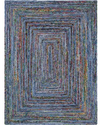 Roari Braided Chindi Rbc1 Blue/Multi 5' x 8' Area Rug