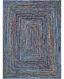 Roari Braided Chindi Rbc1 Blue/Multi Area Rug Collection
