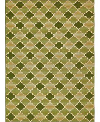 Pashio Pas1 Green 4' x 6' Area Rug