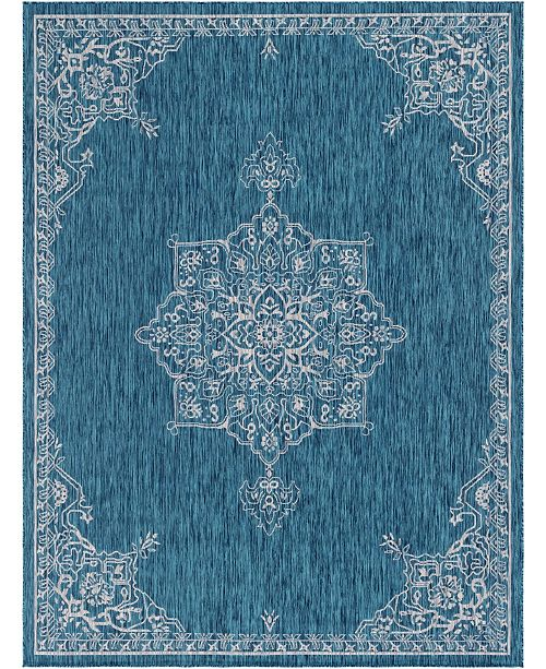 Bridgeport Home Pashio Pas8 Teal Area Rug Collection