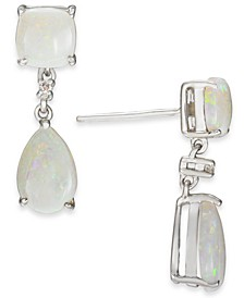 Opal (2-5/8 ct. t.w.) & Diamond Accent Drop Earrings in Sterling Silver