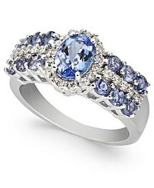 Tanzanite (1-7/8 ct. t.w.) & Diamond (1/4ct. t.w.) Ring in 10k White Gold
