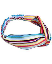 twelveNYC Bright Stripes Top Knot Soft Headband