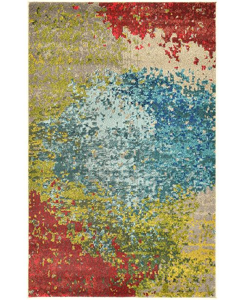 Bridgeport Home Newwolf New3 Blue Area Rug Collection
