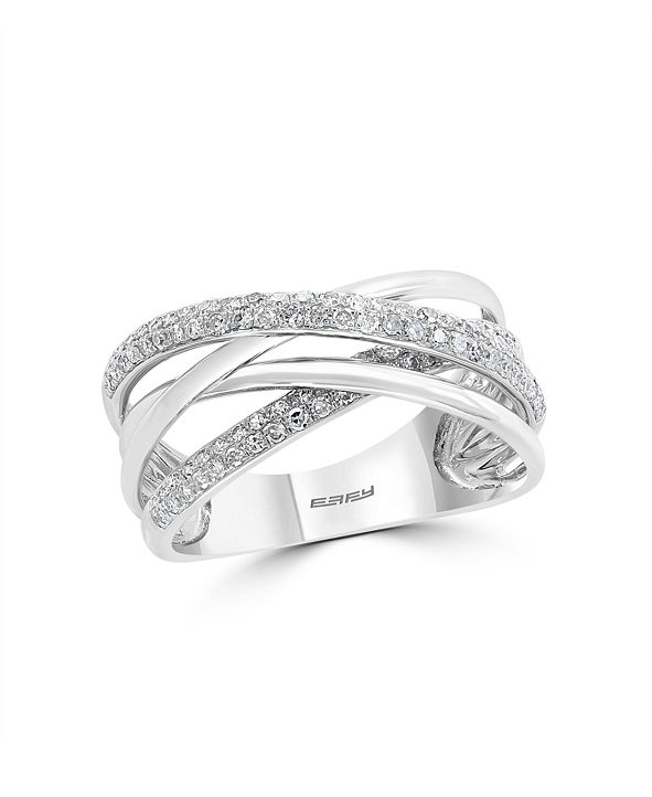 EFFY Collection Pave Classica By EFFY Diamond (3/8 ct. t.w.) Ring in 14k White Gold