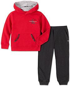 Calvin Klein Jeans Toddler Boys 2-Pc. Fleece Logo Hoodie & Sweatpants Set