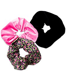 Multi Floral 3-Pc. Scrunchie Set