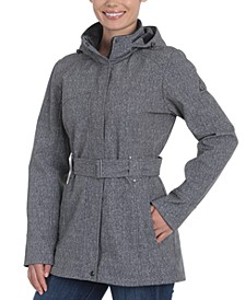 Winter Hooded Belted Trench Coat