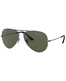 AVIATOR LARGE METAL Sunglasses, RB3025 58