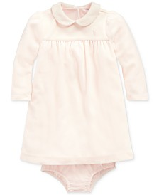 Polo Ralph Lauren Baby Girls Velour Dress