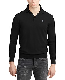 Men's Merino Wool Polo Sweater