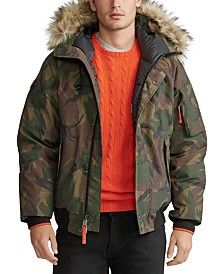 Polo Ralph Lauren Men's Faux-Fur-Trim Down Bomber Jacket
