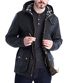 Barbour Men's Icons Durham Water-Resistant Hooded Jacket