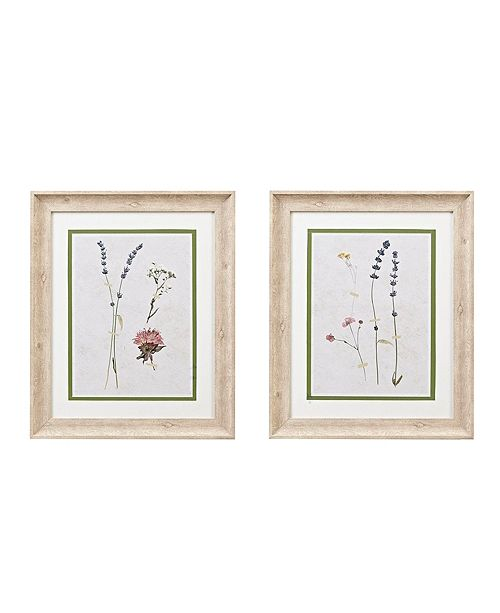 Martha Stewart Collection Martha Stewart Pressed Lavender Double Mat Framed Graphic 2-Pc Set