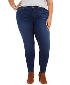 Plus Size Mid-Rise Curvy Skinny Jeans, Created for Macy's