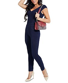 Vivian Stretch Denim Jumpsuit