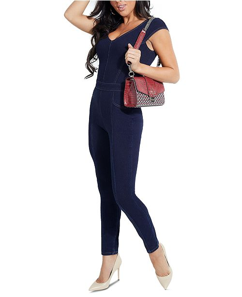 GUESS Vivian Stretch Denim Jumpsuit