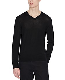 A|X Armani Exchange Men's Wool V-Neck Sweater
