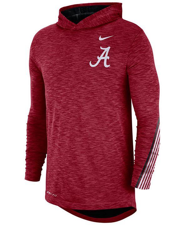 Nike Men's Alabama Crimson Tide Hooded Sideline Long Sleeve T-Shirt
