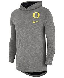 Nike Men's Oregon Ducks Hooded Sideline Long Sleeve T-Shirt