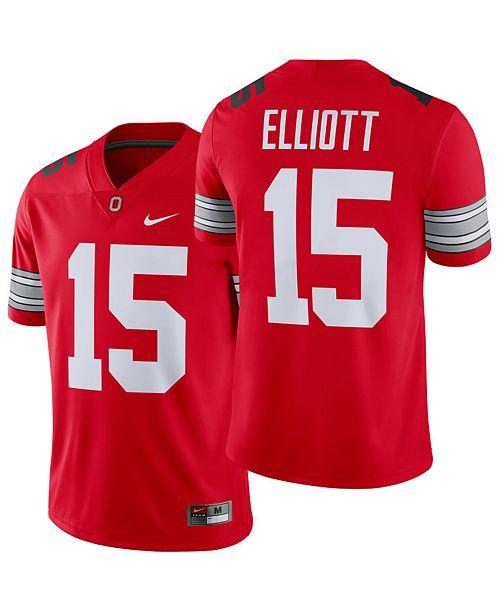 classic fit 2623e ab5c8 Men's Ezekiel Elliott Ohio State Buckeyes Player Game Jersey