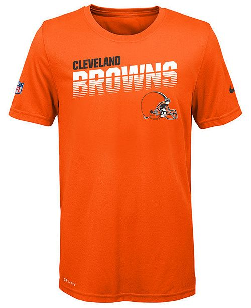Nike Big Boys Cleveland Browns Sideline T-Shirt