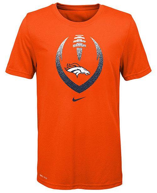 Nike Big Boys Denver Broncos Football Icon T-Shirt