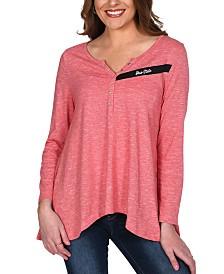 UG Apparel Women's Ohio State Buckeyes Cozy Henley Long Sleeve T-Shirt