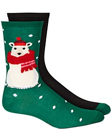 Women's 2-Pk. Stocking Stuffer Crew Socks