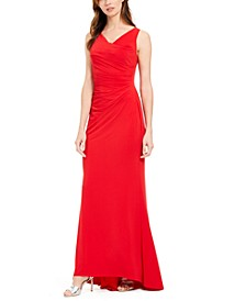 Draped Cowlneck Gown