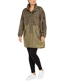 Trendy Plus Size Mixed-Media Parka