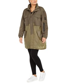 Lala Anthony Trendy Plus Size Mixed-Media Parka