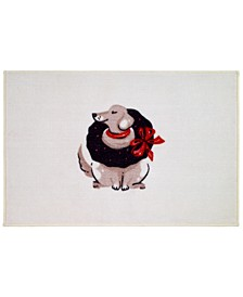 Holiday Dogs Bath Rug