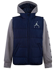 Toddler Boys Hooded Layered-Look Hybrid Jacket, Created for Macy's