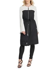 DKNY Colorblocked Tie-Waist Jacket