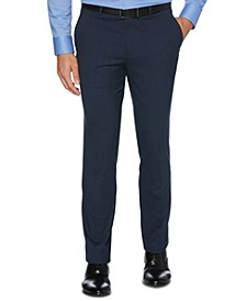 Portfolio Men's Extra Slim-Fit Stretch Subtle Plaid Dress Pants