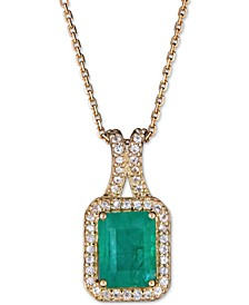 """Certified Ruby (1-1/2 ct. t.w.) & White Sapphire (1/5 ct. t.w.) 18"""" Pendant Necklace in 14k Rose Gold (Also in Sapphire & Emerald)"""